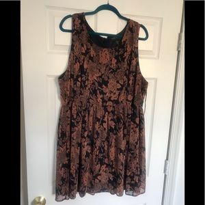 Floral Copper Dress